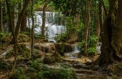 Waterfall in Thailand. Huay mea khamin waterfall in the rainy season Royalty Free Stock Image