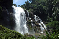 Waterfall thailand panorama. Panorama view of waterfall in thailand background royalty free stock photos
