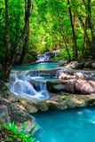 Waterfall in Thailand tropical forest Stock Photos
