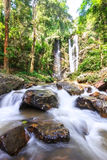 Waterfall in thailand. Waterfall in the tropical rainforest in thailand Royalty Free Stock Images
