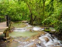 Waterfall at Than Bok Khorani National Park Krabi Thailand. Nature waterfall at Than Bok Khorani National Park Krabi Thailand Royalty Free Stock Image