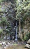 Waterfall thermal waters Stock Photo
