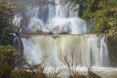 Waterfall Thi Lo Su in Tak Province Stock Images
