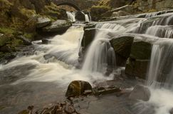 Waterfall at Three Shires Head Royalty Free Stock Photography