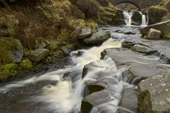 Waterfall at Three Shires Head Royalty Free Stock Photos