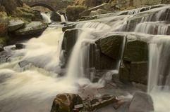 Waterfall at Three Shires Head Royalty Free Stock Photo