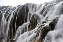 Waterfall in tibetan china Royalty Free Stock Images