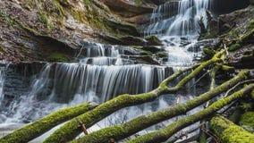 Waterfall in timelapse stock video footage