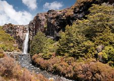 Waterfall in Tongariro National Park Royalty Free Stock Photos