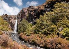Waterfall in Tongariro National Park. Manawatu-Wanganui, New Zealand Royalty Free Stock Photos