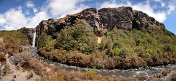 Waterfall in Tongariro National Park Royalty Free Stock Photo