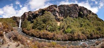 Waterfall in Tongariro National Park. Manawatu-Wanganui, New Zealand Royalty Free Stock Photo