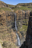 Waterfall at the top of Sentinel Hike, Drakensberge, South Africa. Waterfall at the top of Sentinel Hike, Drakensberge in South Africa royalty free stock photos