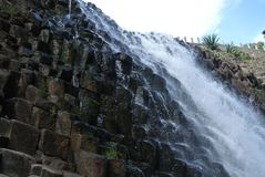 Cascade of the basaltic prisms royalty free stock image