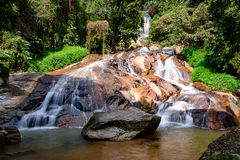 Waterfall in town landscape, Samui Island, Thailand Stock Photography