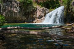 Waterfall Trail on Fossil Creek Stock Image