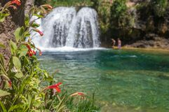Waterfall Trail on Fossil Creek Stock Images