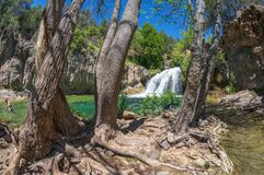 Waterfall Trail on Fossil Creek Royalty Free Stock Photo