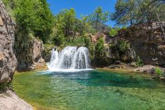 Waterfall Trail on Fossil Creek Royalty Free Stock Images