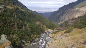 Waterfall at the Transfagarasan crossing Royalty Free Stock Photo