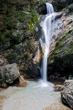 Waterfall of Tre Cannelle at Camosciara Stock Photos
