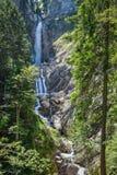 Waterfall in Triglav national park in Slovenia royalty free stock photos