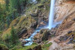 Waterfall in the Triglav valley. In Slovenia, Europe Stock Photo