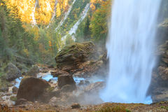 Waterfall in the Triglav valley. In Slovenia, Europe Royalty Free Stock Photography