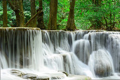 Waterfall in tropical deep forest at Huay Maekhamin Royalty Free Stock Photography
