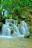 Waterfall in the tropical forest Royalty Free Stock Image