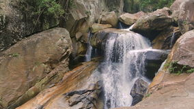 Waterfall in tropical forest. In Nha Trang Vietnam stock video footage