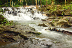 Waterfall in tropical forest Royalty Free Stock Photography