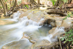 Waterfall in tropical Forest   in summer , Karnjanaburi Thailand Stock Images