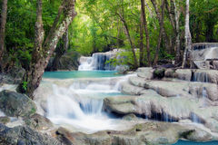 Waterfall in tropical forest Stock Photos
