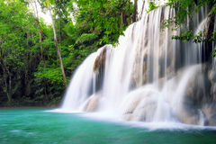 Waterfall in tropical forest of Thailand royalty free stock photos