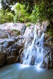 Waterfall in tropical forest, Thailand Stock Image