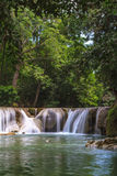 Waterfall in tropical forest,Thailand Royalty Free Stock Photo