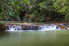 Waterfall in the tropical forest Stock Photo