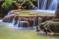 Waterfall in the tropical forest Stock Photography