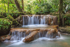 Waterfall in the tropical forest Royalty Free Stock Photography