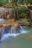 Waterfall in the tropical forest Royalty Free Stock Photos