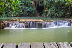 Waterfall in the tropical forest Stock Images