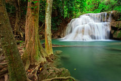 Waterfall in tropical forest, west of Thailand Stock Images
