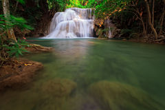 Waterfall in tropical forest, west of Thailand Stock Image