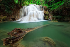 Waterfall in tropical forest, west of Thailand Royalty Free Stock Photography