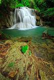 Waterfall in tropical forest, west of Thailand Royalty Free Stock Images