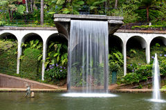 Waterfall in tropical garden on Madeira Royalty Free Stock Photography