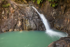 Waterfall in tropical Guadeloup Royalty Free Stock Image