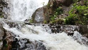 Waterfall in the tropical jungle stock video footage