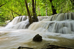 Waterfall in tropical rain forest Royalty Free Stock Photography